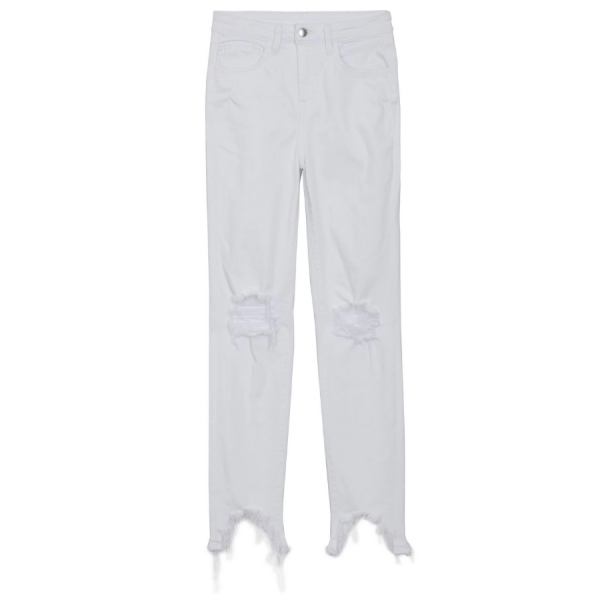 High Line Jean in Blanc Destruct product shot front view