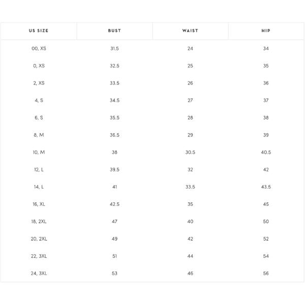 Veronica Beard Size Chart