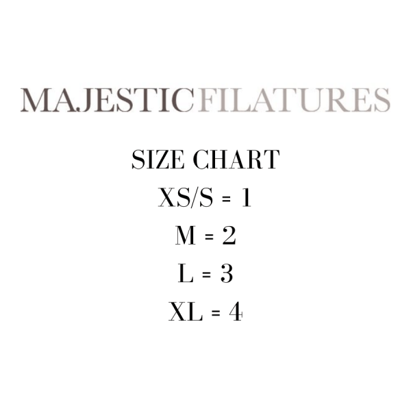 Majestic Size Chart