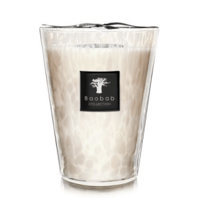 Max 24 White Pearl Candle