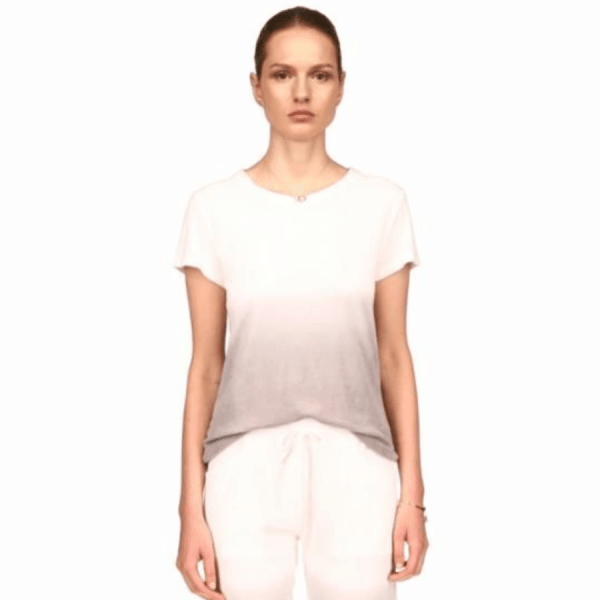 Cotton Terry Ombre Semi Relaxed Short Sleeve Crew