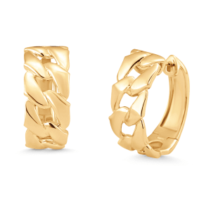 Lucia Link Hoop Earrings product shot front and side view