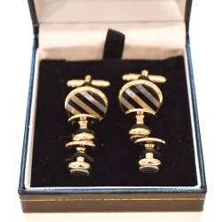 Striped Cufflinks and Studs product shot detail view