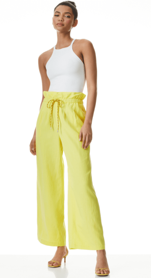 Henry Crop Paperbag Pant with Tie