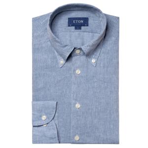 Relaxed Linen Shirt in Ocean Blue