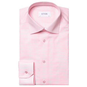Pink Fine Checked Shirt
