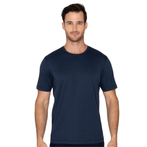 Model Wearing Lafayette Tee in Navy product shot front view