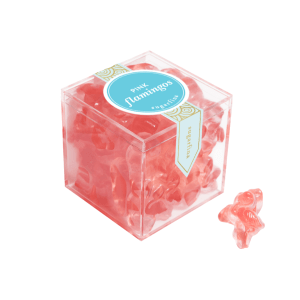 Sugarfina Pink Flamingos Candy product shot packaging and detail view