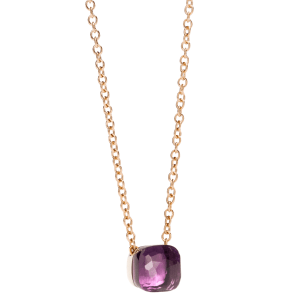 Amethyst Pendant With Chain Nudo