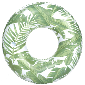 Tropical Jungle Tube Float product shot full aerial view