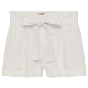 Hillary Linen Short in Blanc product shot front view