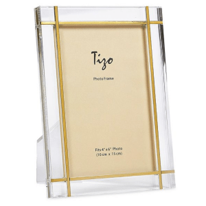 Lucite and Gold Frame product shot front view