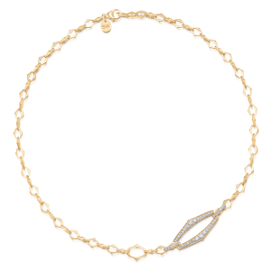 Lucia Yellow Gold 1 Link Necklace