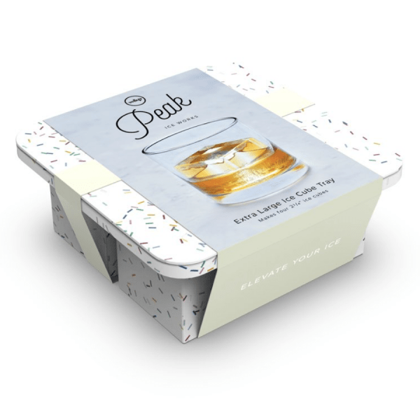 Extra Large Ice Tray in Speckled White product shot front view