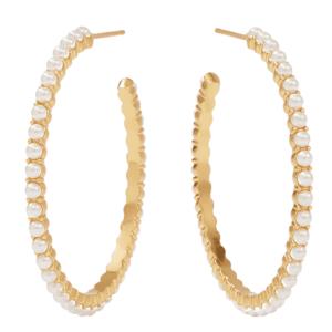 large pearl hoop