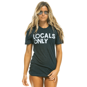 Locals Only Boyfriend Tee in Charcoal