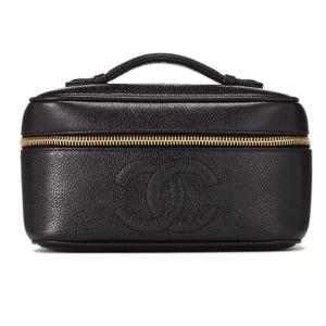 Chanel Black Caviar Vanity Wide