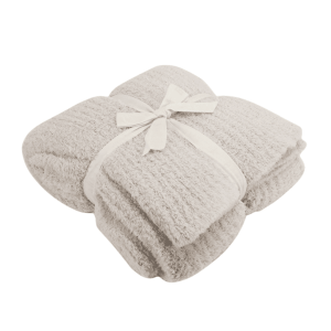 Cozychic Ribbed Throw in Almond