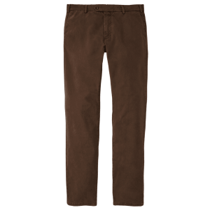 Concorde Garment Dyed Flat-Front Trouser in Espresso