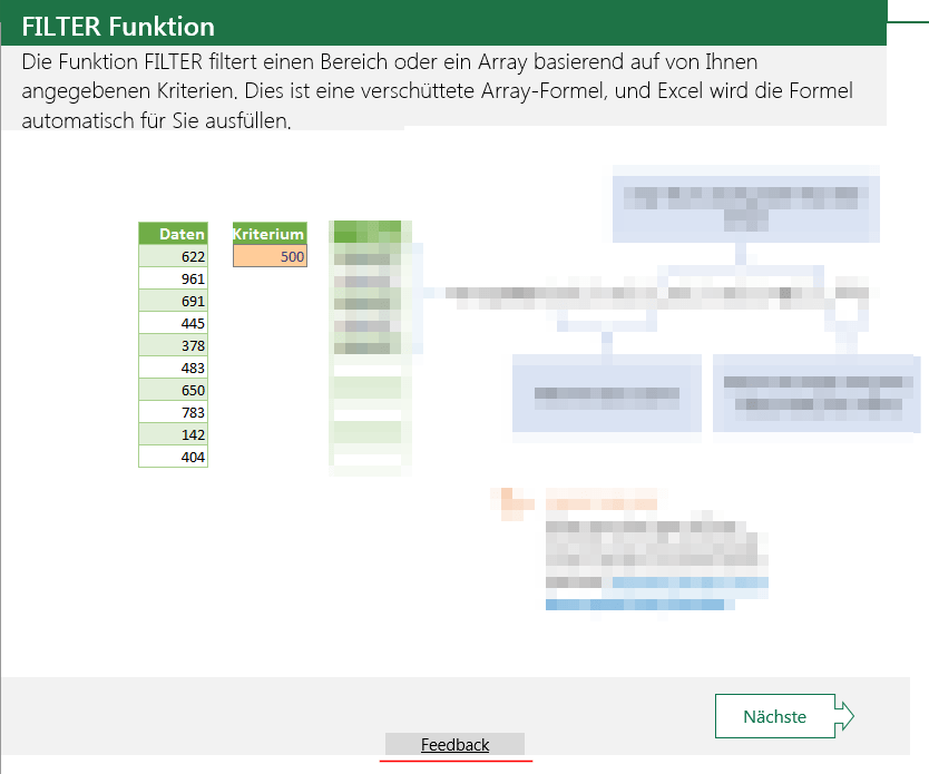 Office Templates Excel Filter Function Feedback Link