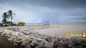 Sea wall in Den Amstel, West Coast Demerara