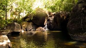 Above the Kumu Falls