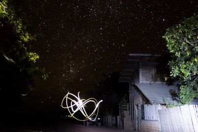 Cool light art at Caiman House