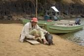 Diane McTurk with Tribulation, the Otter