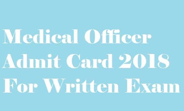 GSSSB Homeopathy Medical Officer Admit Card