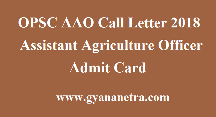 OPSC AAO Call Letter