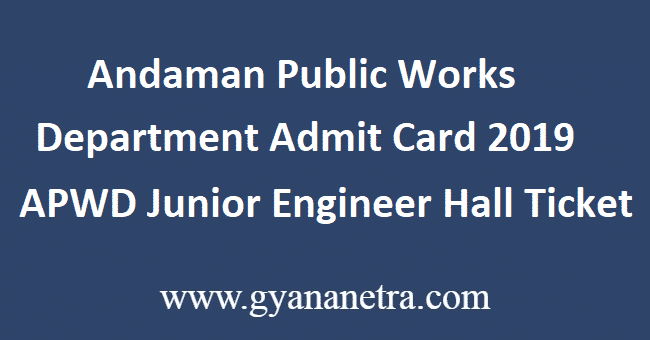 Andaman-Public-Works-Department-Admit-Card