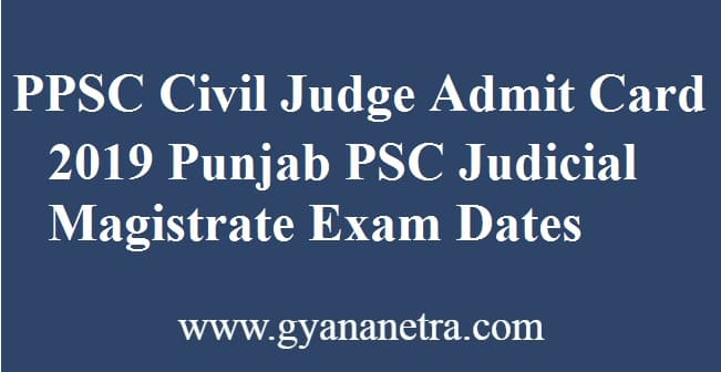 PPSC Civil Judge Admit Card