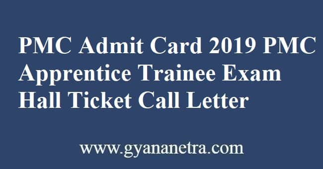 PMC Admit Card