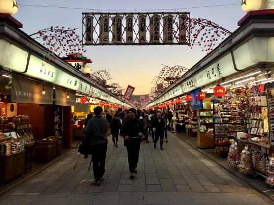 Nakamise street, leading up to the entrance of Senso Ji.