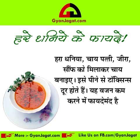 Weight Loss Ke Liye Dhaniya Ke Fayde in Hindi
