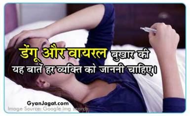 डेंगू और वायरल बुखार की यह बातें हर व्यक्ति को जाननी चाहिए।
