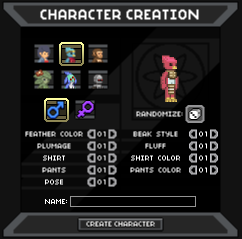 The Character Creator Machine
