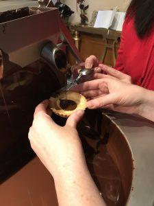 making a cake