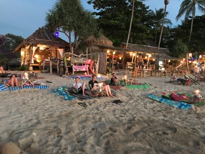 bar på stranden