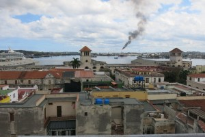 view from the house with camara oscura