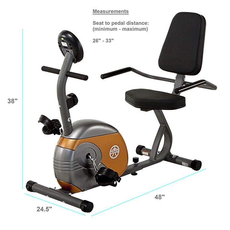 Marcy ME 709 Recumbent Exercise Bike Reviews [2019-2020] 1