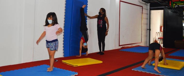 Baby Gym son clases de gimnasia para niños y niñas de 4 y 5 años