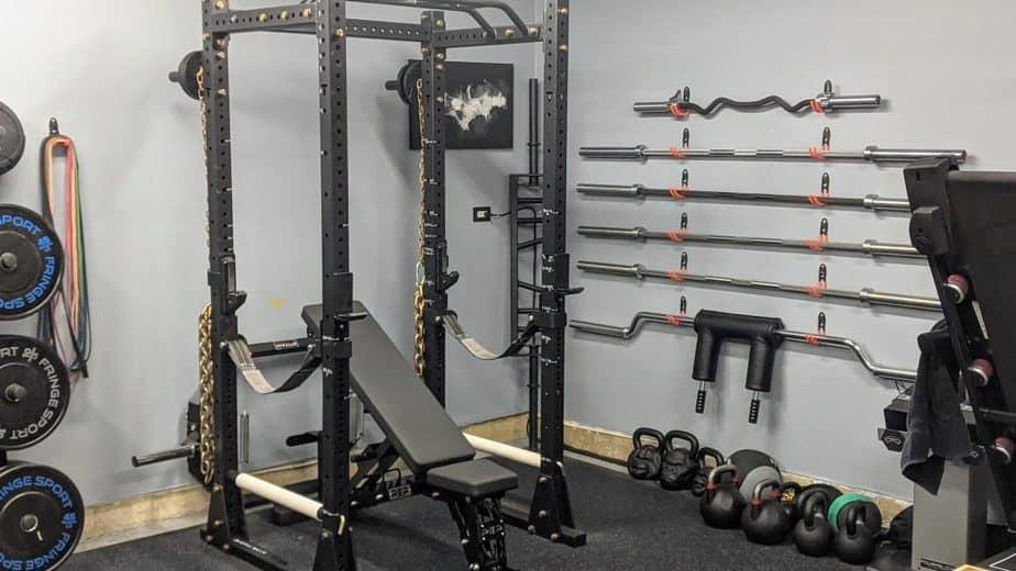 training on the titan fitness x 3 rack