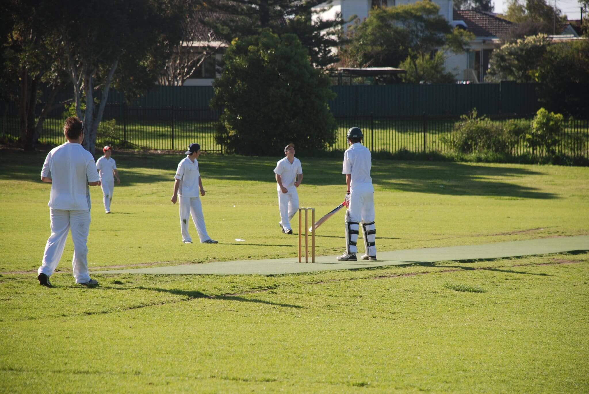 A Junior Cricket Game in Action.