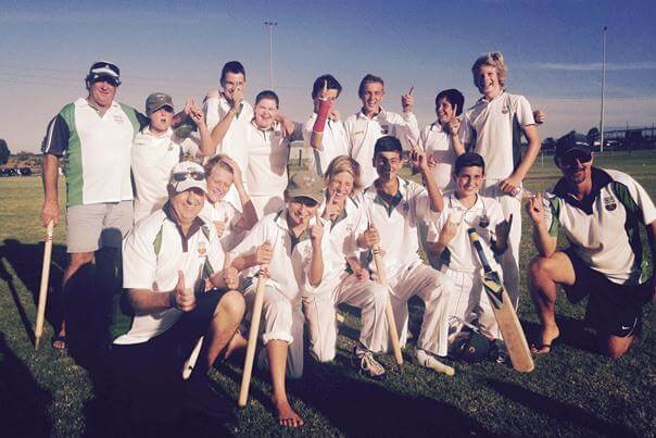 A photo of a junior cricket team.