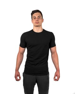 Muscle Fit Tee Black Front