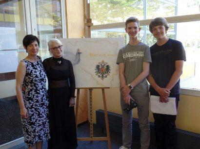 Frau Dietz-Pentrys, Frau Ruppert, Nick Lobe und Tarek Mues