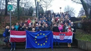 Begrüßung der lettischen und kroatischen Gäste in Haan