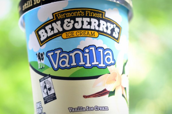 Ben and Jerry's vanilla