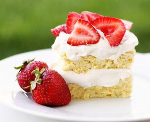 healthy strawberry shortcake